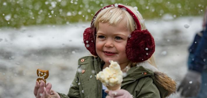 In inverno si mangia il gelato